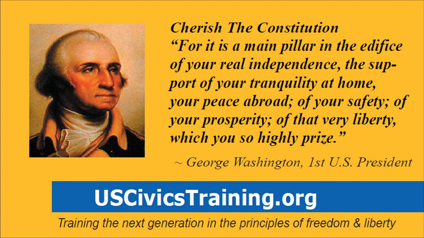 Bus Card George Washington Quote