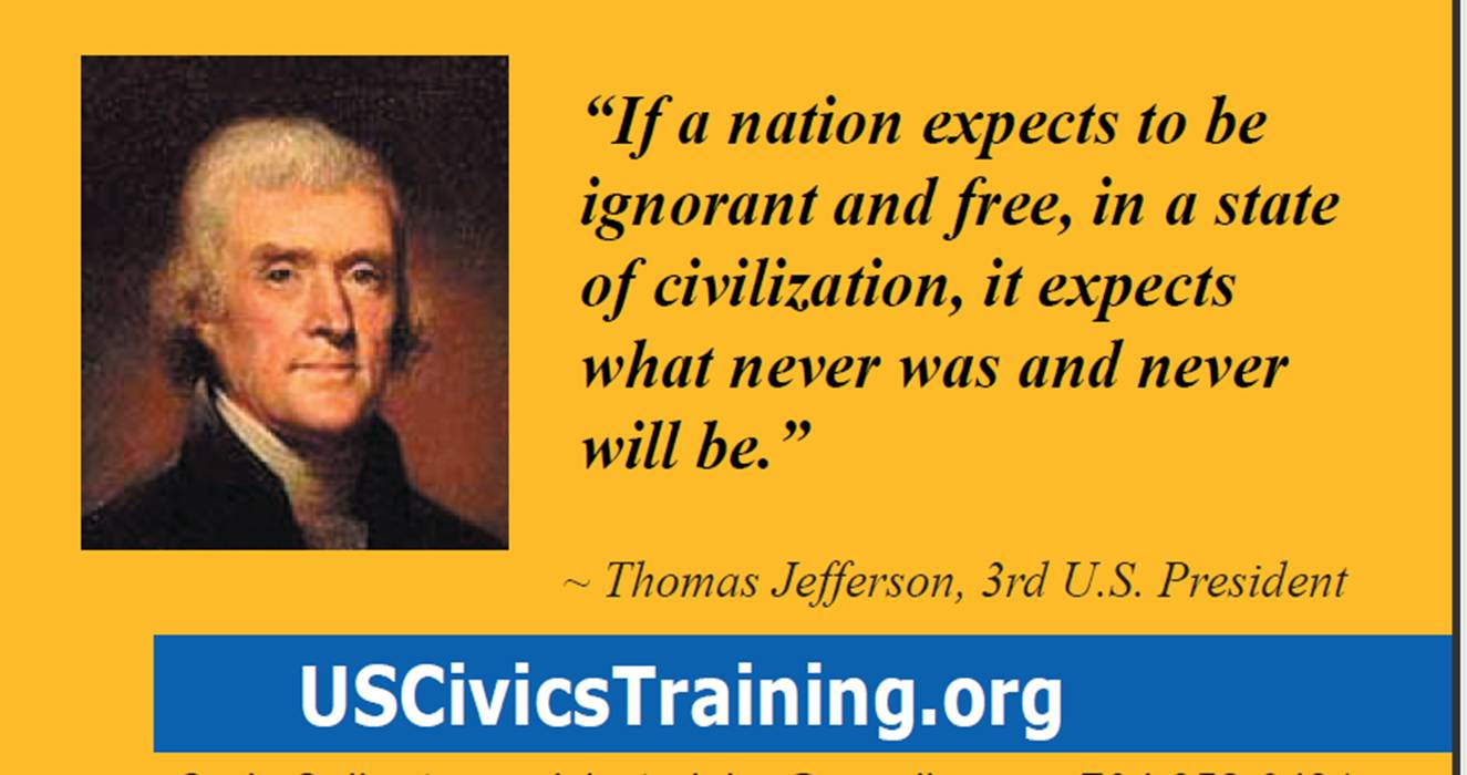 Bus Card Thomas Jefferson Quote